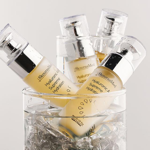 https://www.skourasmed.com/SkourasMed Cosmetic: Hyaluronic Acid Supreme Hydration - Bunch of bottles